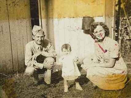 Elbert, Johanna (my mother) and Wilma Pope
