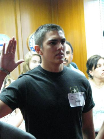 Esteban swearing in