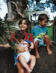Alex, Sam and Esteban Hawaii 1997