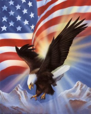 5819~American-Eagle-and-Flag-II-Posters