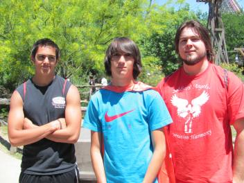 Six Flags 2012 - Esteban, Sam and Ben