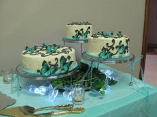 Wedding w/edible butterflies