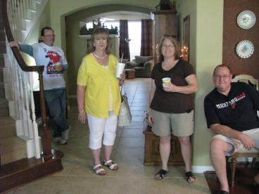 Pastor David Maulsby, Brenda Capps, Deb & Dan Rigg